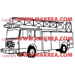 Sticker Camion Pompiers 2