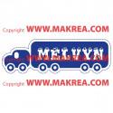Sticker Camion avec prénom personnalisable