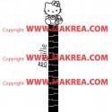 Sticker Règle de croissance Hello Kitty
