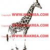 Sticker Girafe Réaliste