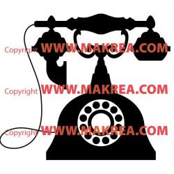 Sticker Vieux téléphone Baroque