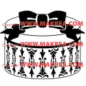 Sticker Boîte à chapeau Baroque