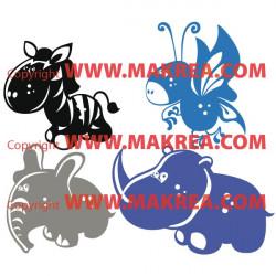 Stickers 4 Animaux pour enfants