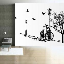 Vélo et lampadaires
