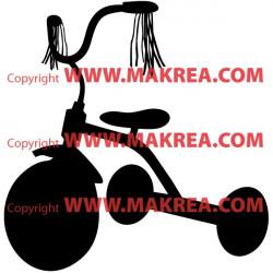 Sticker Vélo Tricycle enfant