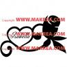 Sticker Coeur et rose + prénom personnalisable