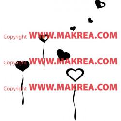 Sticker Coeur Ballon