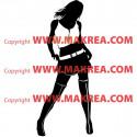 Sticker Silhouette Femme sexy - Bi-Colors