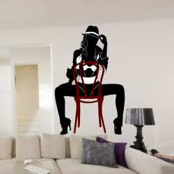 Sticker Silhouette Femme sexy assise - 3-Colors