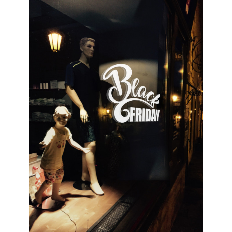 Sticker Vitrine Black FRIDAY