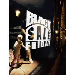 Sticker Vitrine Black Sale Friday