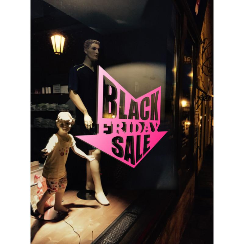 Sticker Vitrine Black Friday Sale Flèche