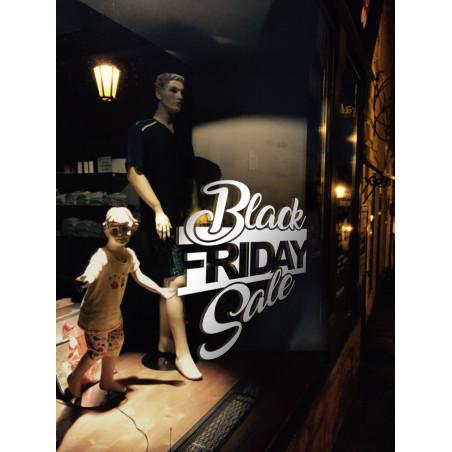 Sticker Vitrine Black Friday Sale 3 écritures