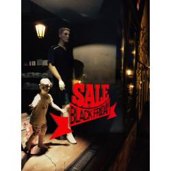 Sticker Vitrine Sale Black Friday Courbé