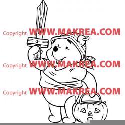 Sticker Winnie l'ourson Halloween