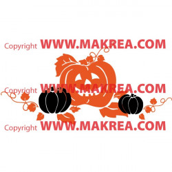 Sticker Citrouilles Halloween
