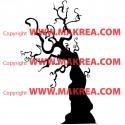 Sticker arbre Halloween