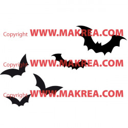 Sticker Pack / kit Halloween Chauves-souris