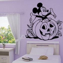 Sticker Mickey Citrouille Halloween