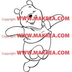 Sticker Winnie Heureux