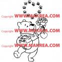Sticker Winnie Abeilles en coeur