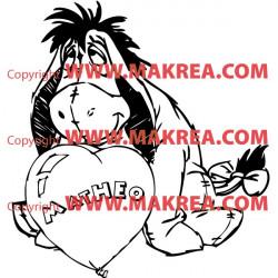 Sticker Bourriquet Ballon Coeur + Prénom Personnalisable