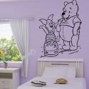 Sticker Winnie et Porcinet sur pot