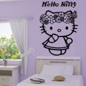 Sticker Hello Kitty Couronne de Fleurs