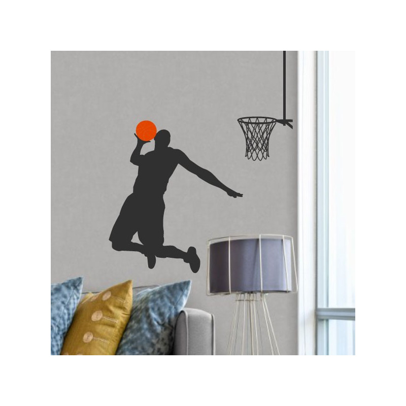 Sticker Basketball - Basketteur met un panier