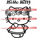 Sticker Hello Kitty Couronne de Fleurs