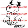 Sticker Snoopy Heureux