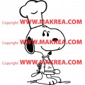 Sticker Snoopy Cuisinier