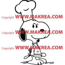 Sticker Snoopy Cuisinier