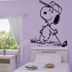 Sticker Snoopy au Golf