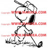 Sticker Snoopy au Golf