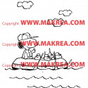 Sticker Snoopy sur bateau