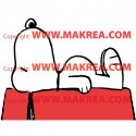 Sticker Snoopy dort - bi color