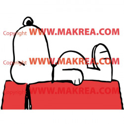 Sticker Snoopy dort - bi color