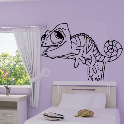 Stickers muraux wall disney raiponce makrea stickers - Raiponce cameleon ...