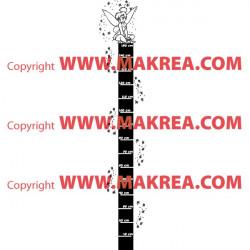 Sticker Règle de croissance Fée Clochette