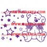 Sticker Ourson Etoiles + Prénom Personnalisable