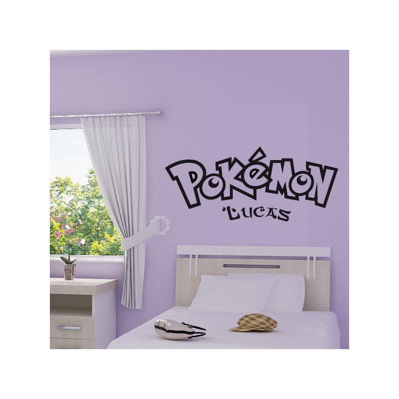 Sticker Ecriture Pokémon