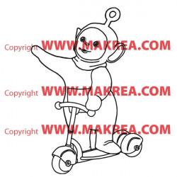 Sticker Télétubbies fait de la Trotinette