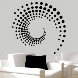 Sticker Abstrait Rond