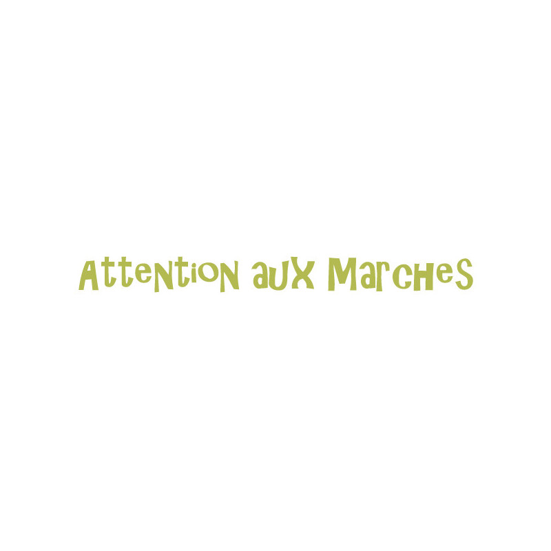 Stickers Luminescent Texte Attention aux marches
