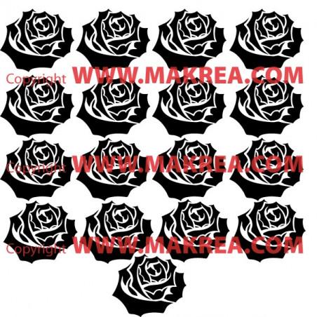 17 roses 17x20cm