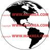 Sticker Map Monde Amérique