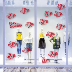"vitrine ""pack SOLDES"" pourcentages"