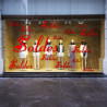 """Sticker vitrine Texte """"SOLDES"""" - Choix de l'écriture"""