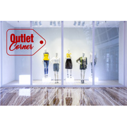 Sticker Vitrine Outlet Corner Etiquette